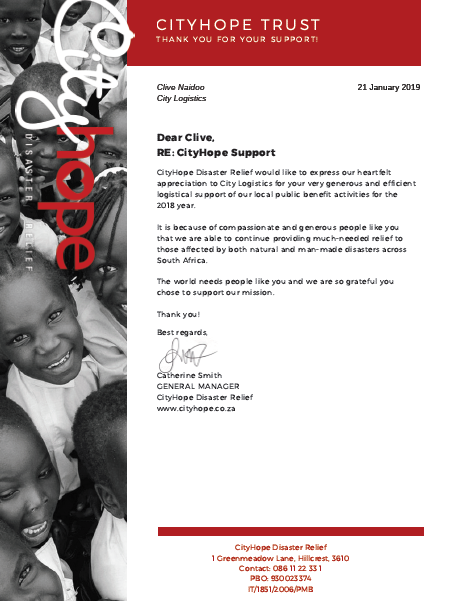 CityHope Letter