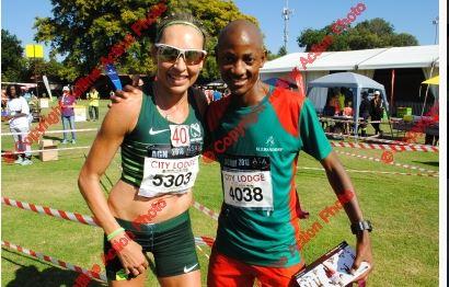 Charne Bosman and Tolo Mooketsi- 2016 Comrades Champion.