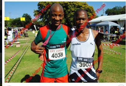 Gordon Lesetedi No:6 at comrades marathon 2018 and Tolo Mooketsi